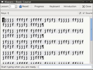 Screenshots of package klavaro