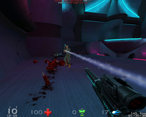 Fast-paced 3D first-person shooter