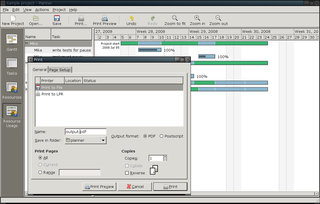 Screenshots of package planner