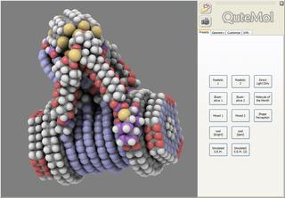 Screenshots of package qutemol