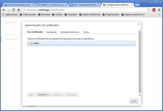 Screenshots of package chromium