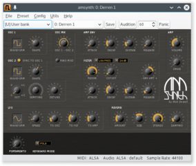 Screenshots of package amsynth