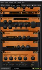 Screenshots of package guitarix
