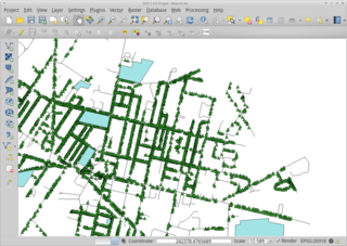 Screenshots of package qgis