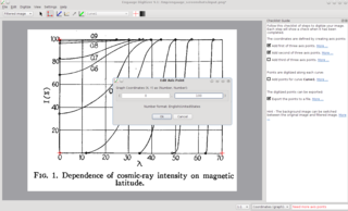 Screenshots of package engauge-digitizer