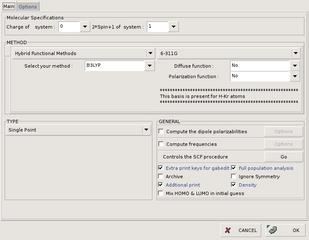 Screenshots of package gabedit