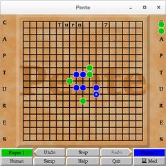 Screenshots of package pente