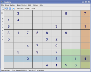 Sudoku puzzle game and solver