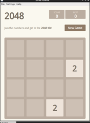 Screenshots of package 2048-qt