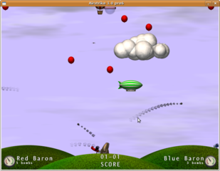 Screenshots of package airstrike