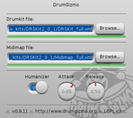 Screenshots of package drumgizmo