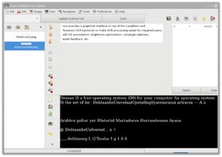 Screenshots of package lios