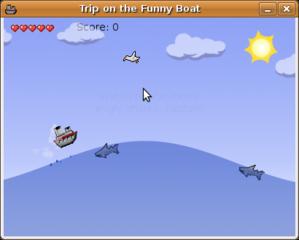 Screenshots of package funnyboat