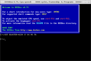 Screenshots of package dosbox