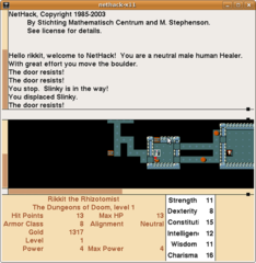 Screenshots of package nethack-x11