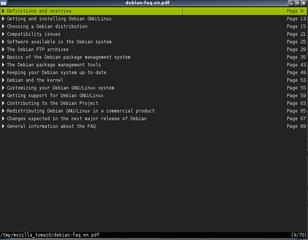 Screenshots of package zathura