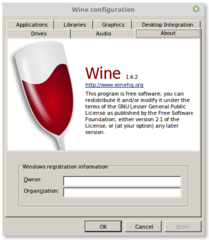 Screenshots of package wine