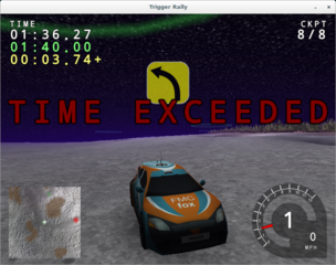 Screenshots of package trigger-rally