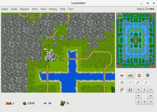 Screenshots of package lordsawar