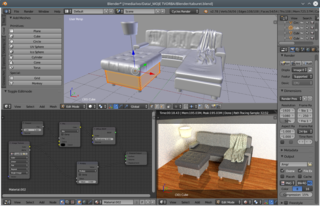 Screenshots of package blender