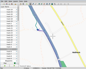 GPS data editor, analyzer and viewer