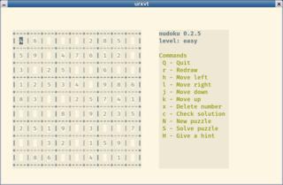 Screenshots of package nudoku