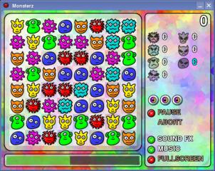 Screenshots of package monsterz