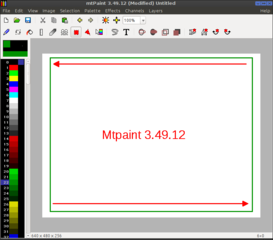 Screenshots of package mtpaint
