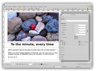 Screenshots of package scribus