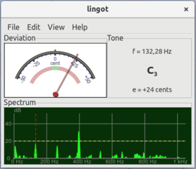 Screenshots of package lingot