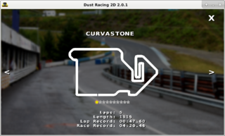 Screenshots of package dustracing2d