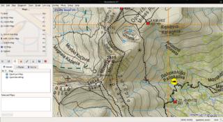 Screenshots of package qlandkartegt