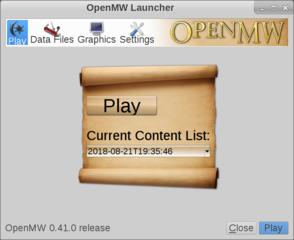Screenshots of package openmw