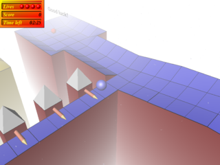 Screenshots of package trackballs