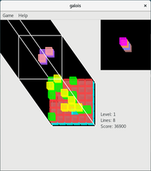 Screenshots of package galois