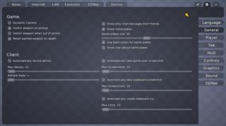 Screenshots of package ddnet