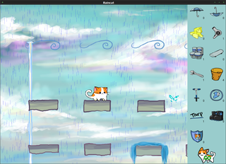 Screenshots of package raincat