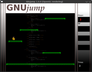 Screenshots of package gnujump