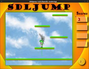 Screenshots of package gnujump