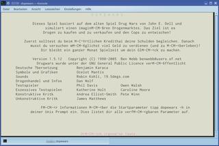 Screenshots of package dopewars