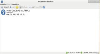 Screenshots of package blueman