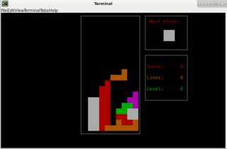 Screenshots of package bastet