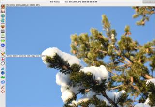 Screenshots of package fotoxx