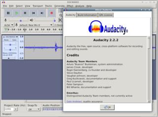 Screenshots of package audacity
