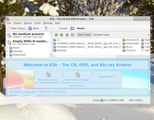 Screenshots of package k3b