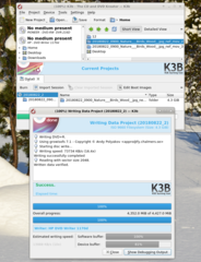 Screenshots of package k3b