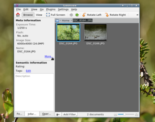 Screenshots of package gwenview