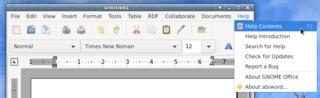 Screenshots of package abiword