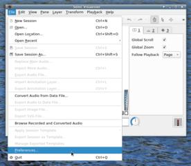 Screenshots of package sonic-visualiser