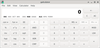 Screenshots of package galculator